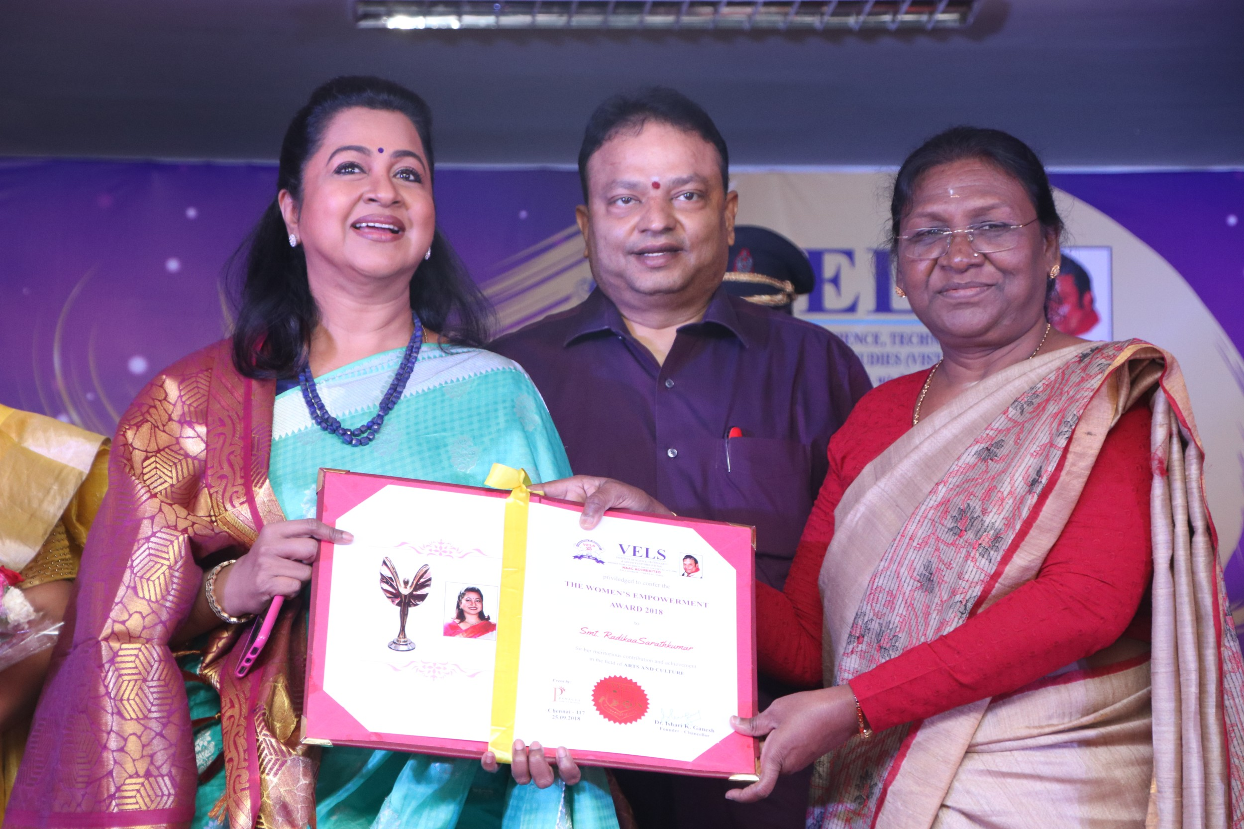 """ Vels university Panache Events & Branding –  The Womens Empowerment Award 2018."